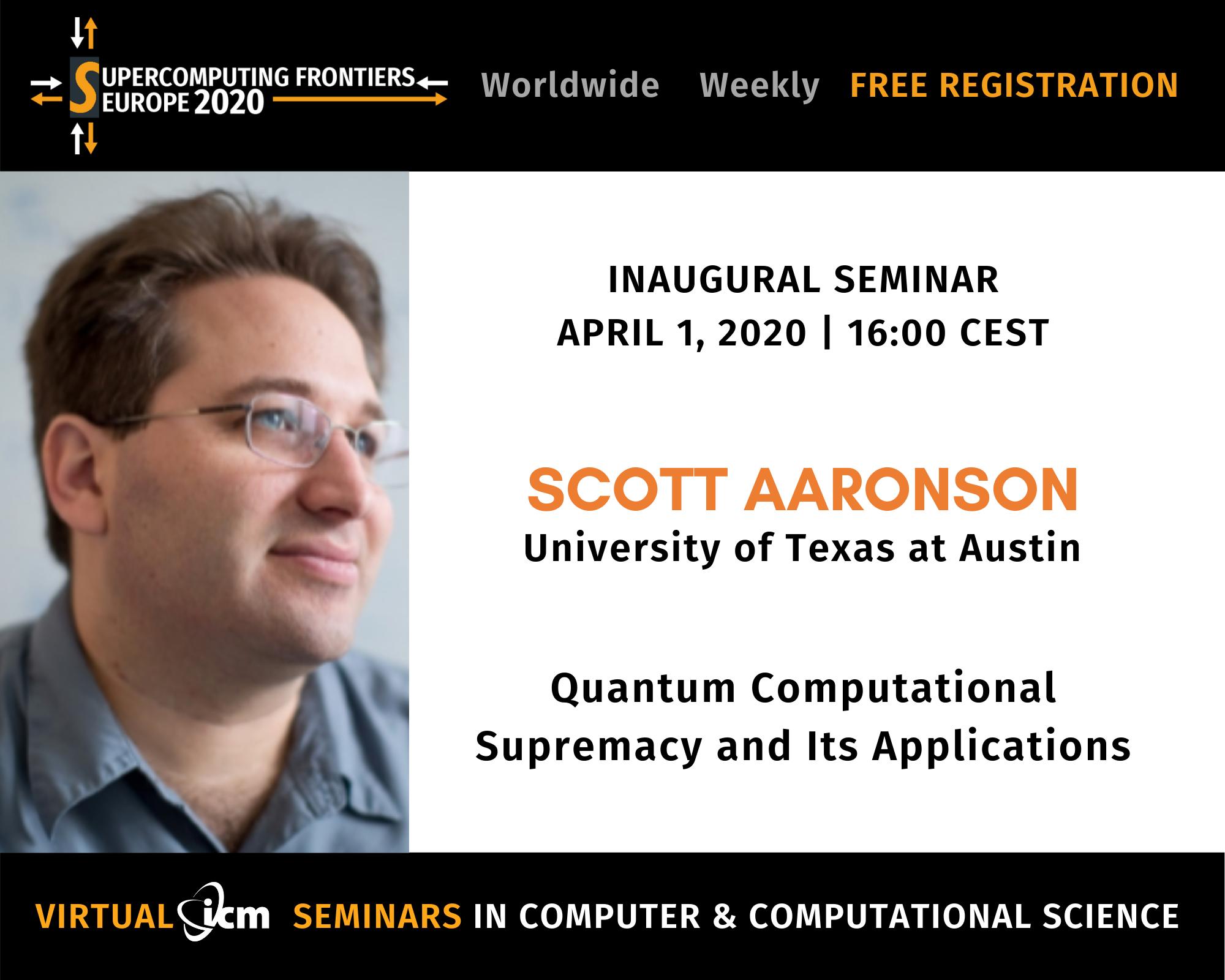 SCFE20 Virtual ICM Seminars Scott AAronson