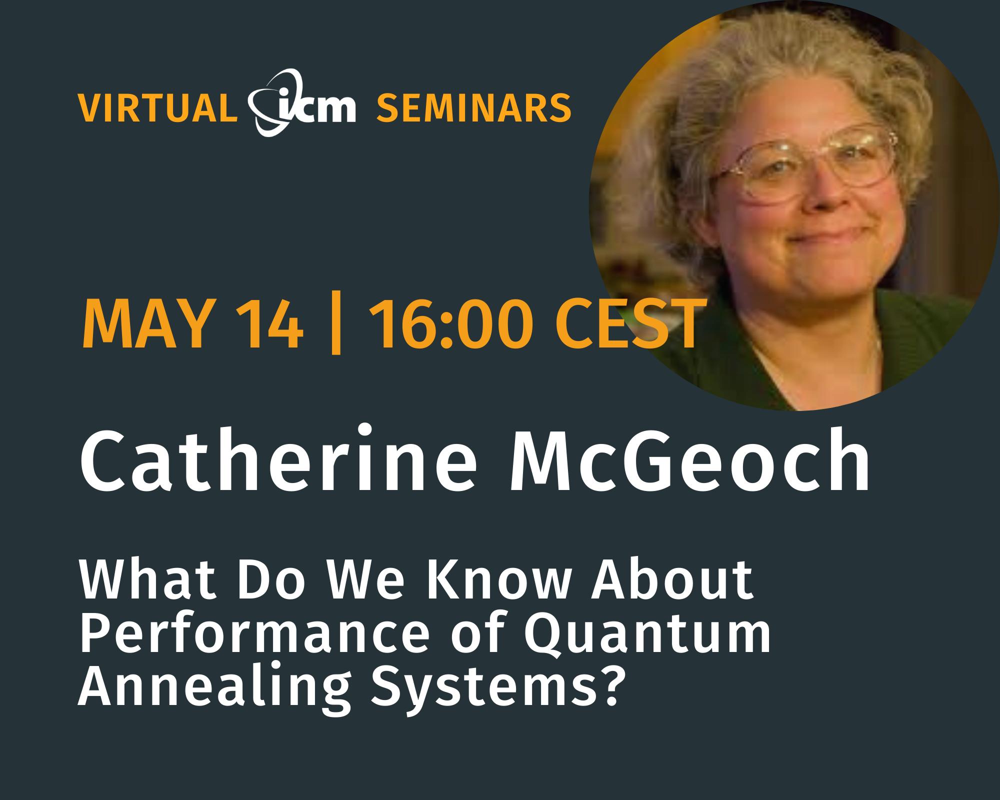 Catherine McGeoch ICM Seminars May 14 2020