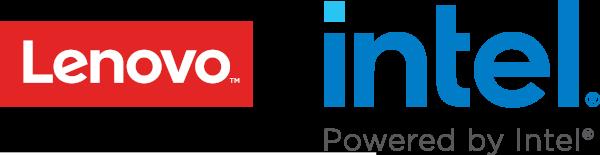 Lenovo and intel logos